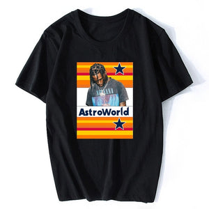 New Harajuku Fashion Hip Hop T Shirt Men Travis Scotts ASTROWORLD T-Shirts WISH YOU WERE HERE Letter Print Tees Tops
