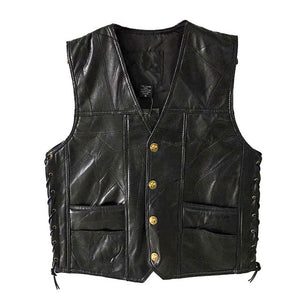 PU Vests Men Sleeveless Jacket Vest Male Streetwear Lether Punk Hip Hop Black 2019 New Brand Motorcycle Waistcoat Jackets Coats