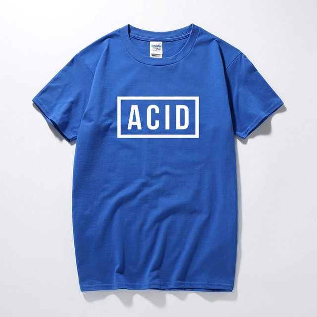 ACID Block Graphic Printed T-shirt 808 303 Techno House Underground Music Top Summer Fashion Camiseta Masculina Cotton T shirt