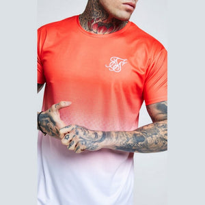 New Fashion Men's Casual T-shirts Short Sleeve Gradient siksilk O-neck T-shirt for Men Clothes 2019 Brand T shirt