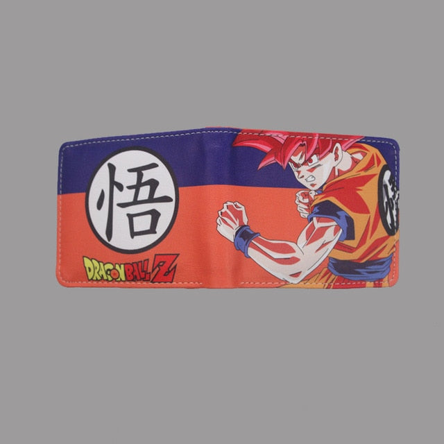 New arrivel high quality anime cartoon wallets Dragonball Wallet short PU folding wallets credit card wallets