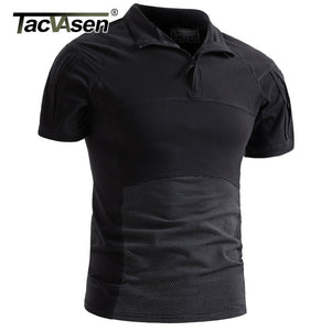 TACVASEN Men Camouflage Tactical T-shirts Summer Quick Dry Military Army Combat T-shirts Short Sleeve Camo Airsoft Top Tees 3XL