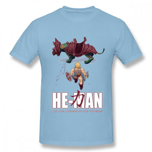 Novelty He-Man And The Masters Of The Universe Akira T Shirt For Male Crewneck 100% Cotton Graphic Print Tee Shirt