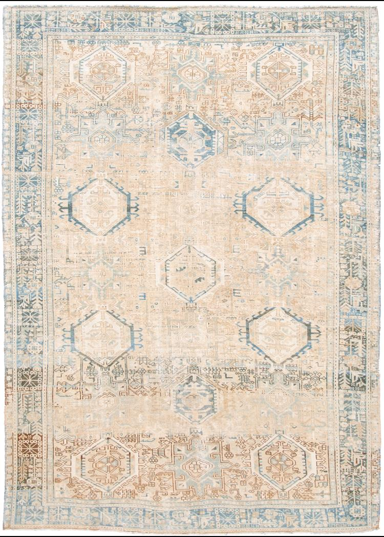 Early 20th Century Vintage Heriz Wool Rug 8' x 11'