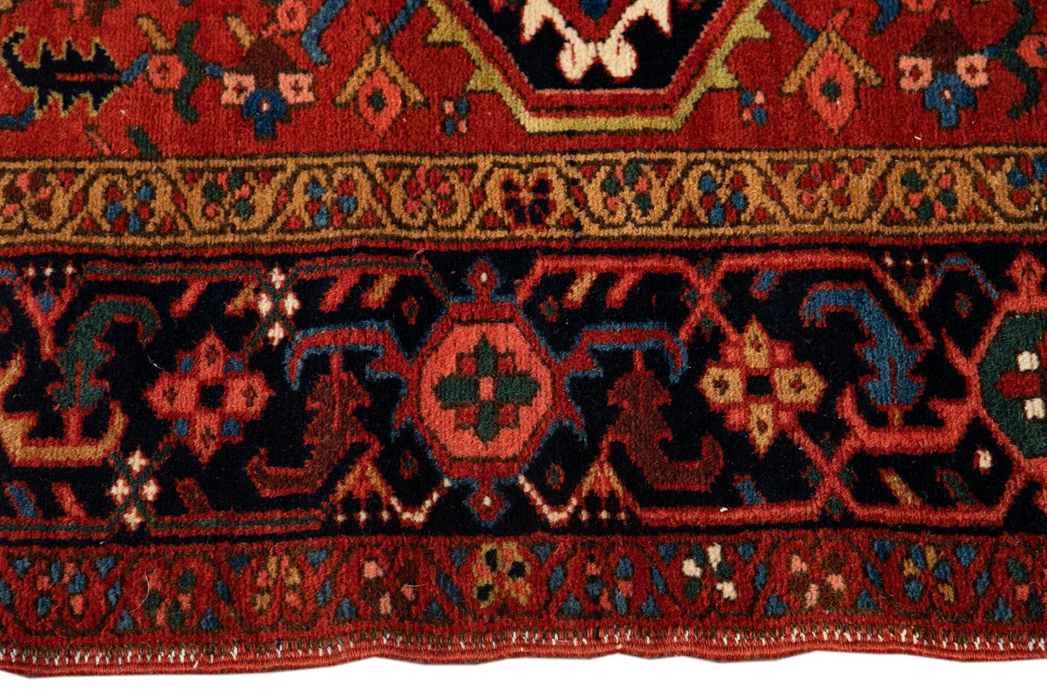 Early 20th Century Vintage Heriz Rug