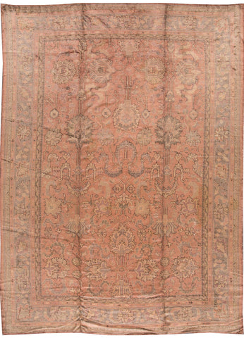 Antique Oushak Rug, 11' X 15'