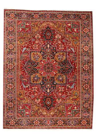 Antique Heriz Rug, 10' X 14'