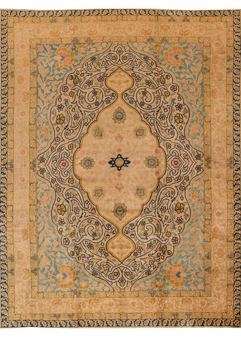Antique Tabriz Rug, 11' X 15'
