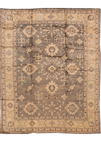 Antique Oushak Rug, 10' X 13'
