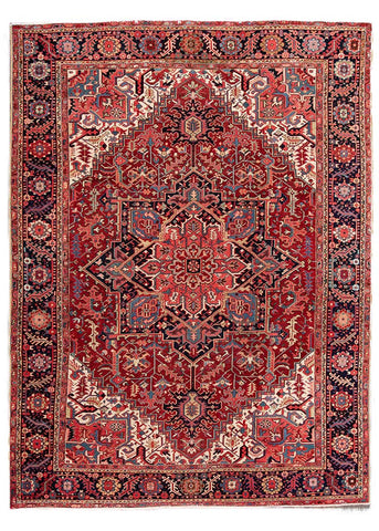 Antique Heriz Rug, 10' X 13'