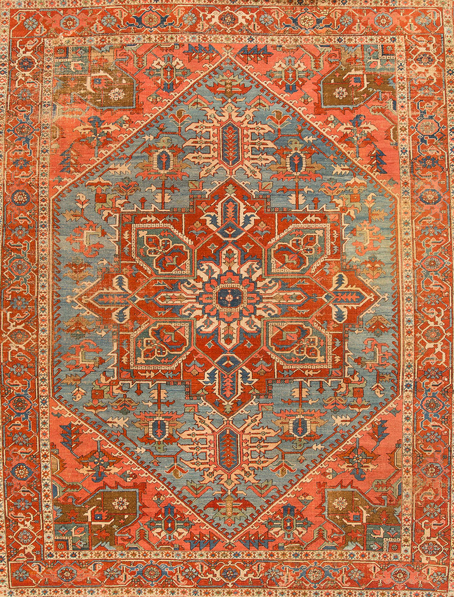 Antique Bakshaeish Rug, 11X13