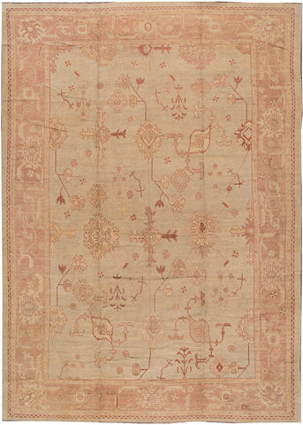 Modern Turkish Oushak Rug, 13X18