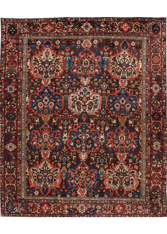 Antique Bakhtiari Rug, 13' X 15'