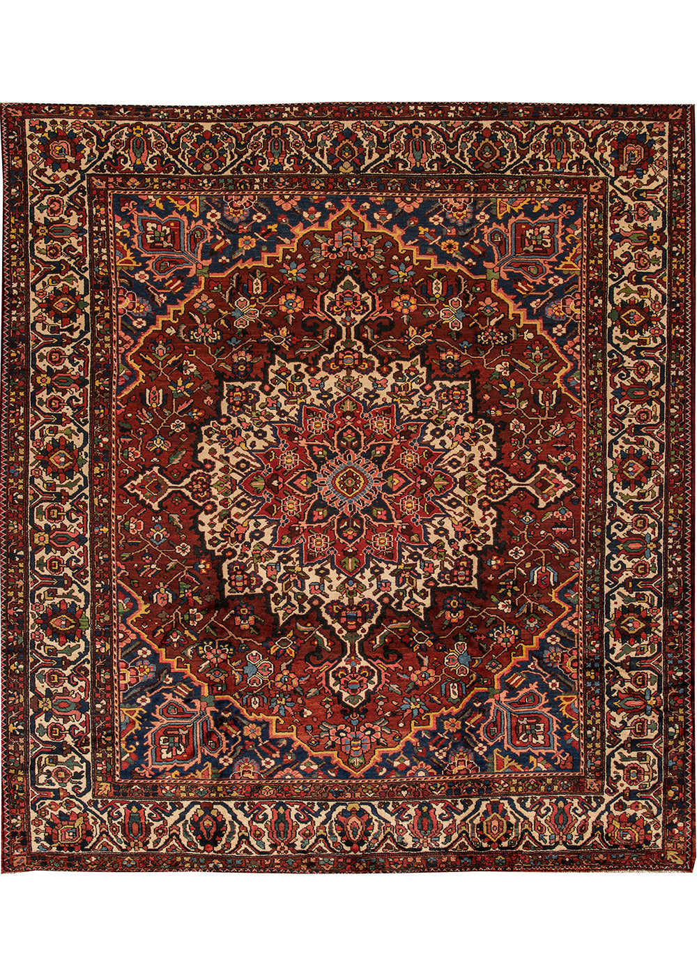 Antique Bakhtiari Rug, 11X12