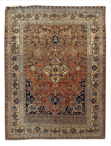 Antique Tabriz Rug, 5' X 6'