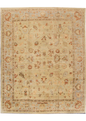 Modern Turkish Oushak Rug, 13X16