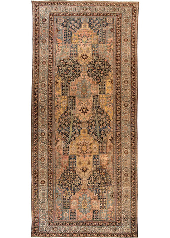Antique Bakhtiari Rug, 11X25