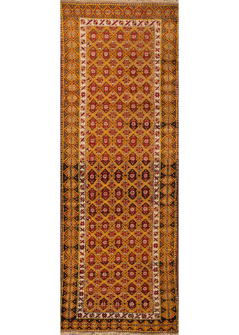 Antique Turkish Rug, 3' X 10'