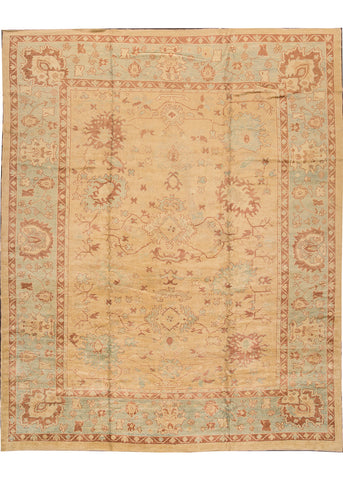 Turkish Oushak Rug, 12X14