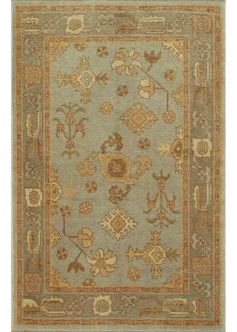 Turkish Oushak Rug, 4X6