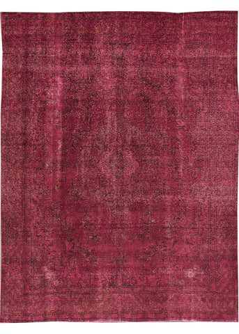 Vintage Overdyed Rug, 9X12