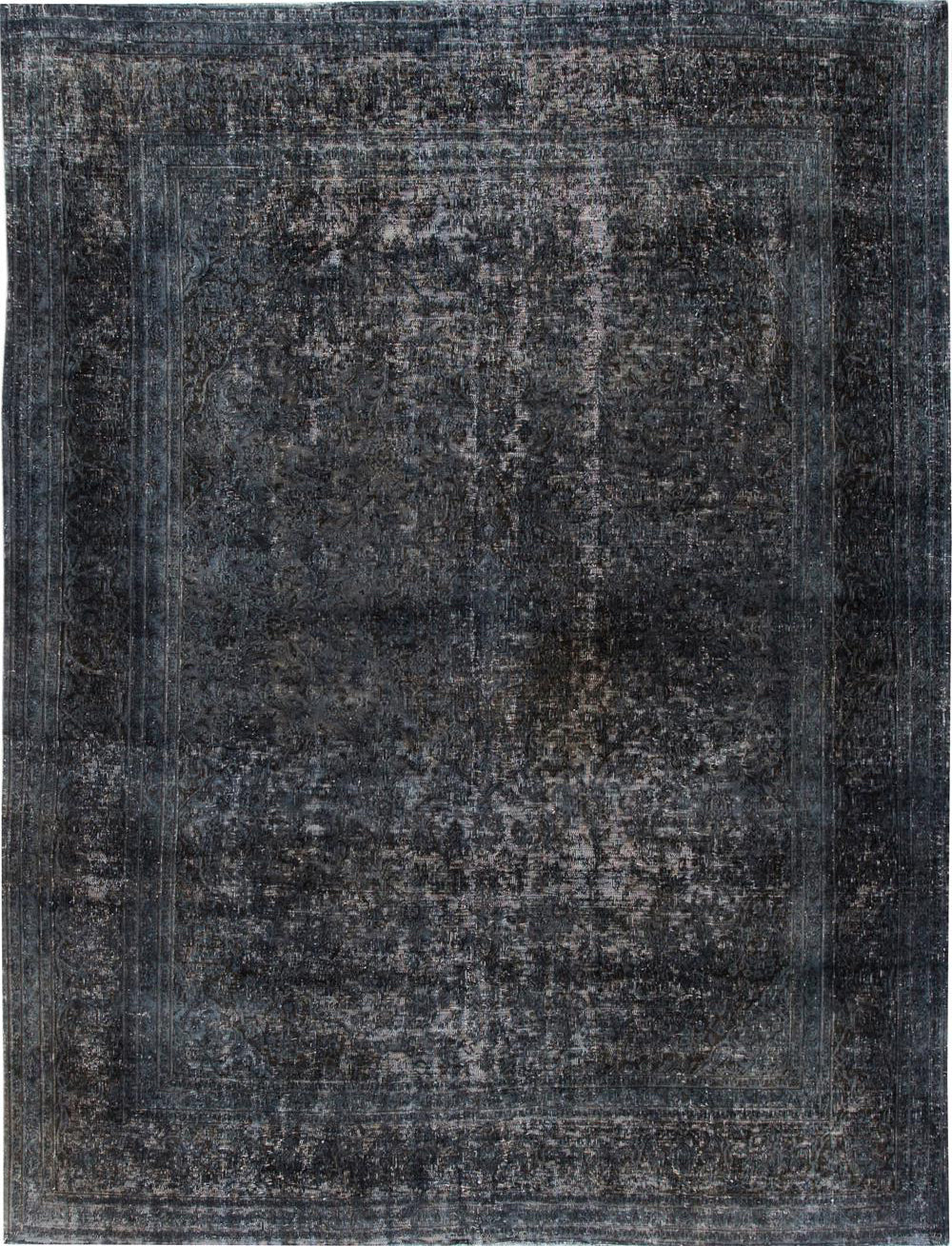 Distressed Overdyed Rug, 9X12