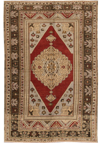 Antique Oushak Rug, 6X9