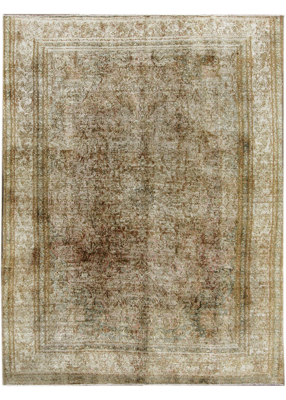 Distressed Tabriz Rug, 9X12