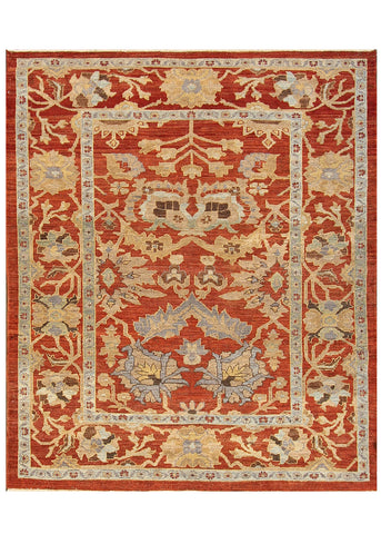 Sultanabad Rug, 7' X 8'