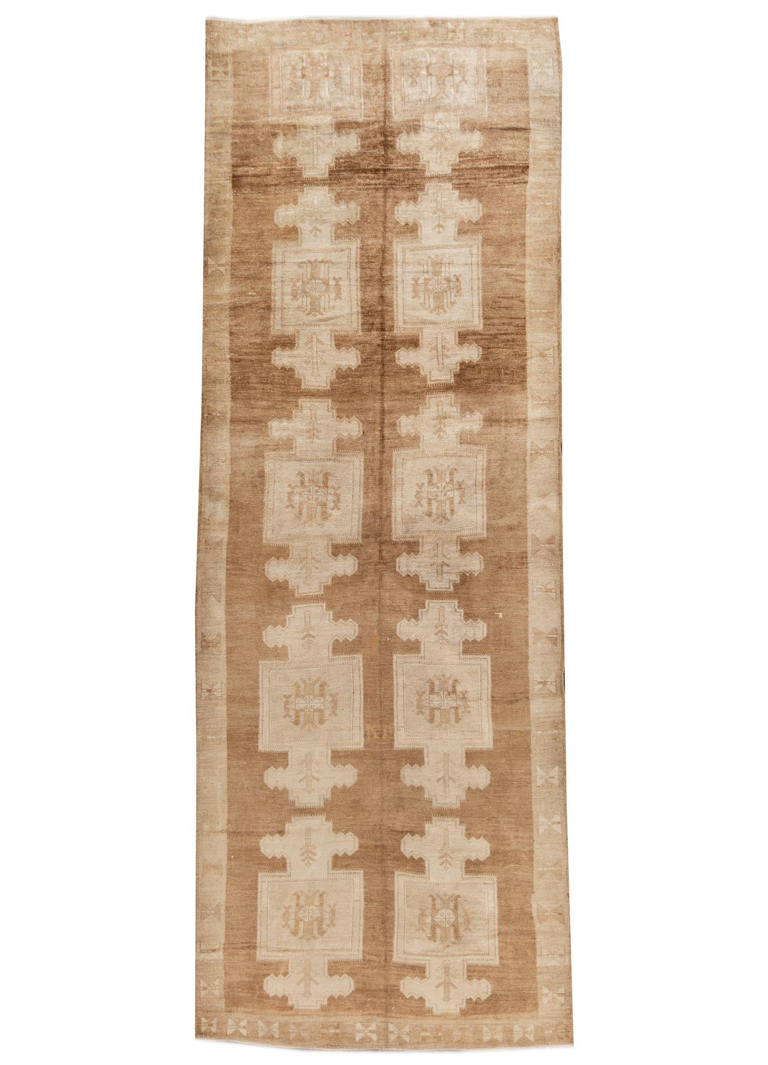 Early 20th Century Turkish Anatolian Kars Runner Rug, 6X17