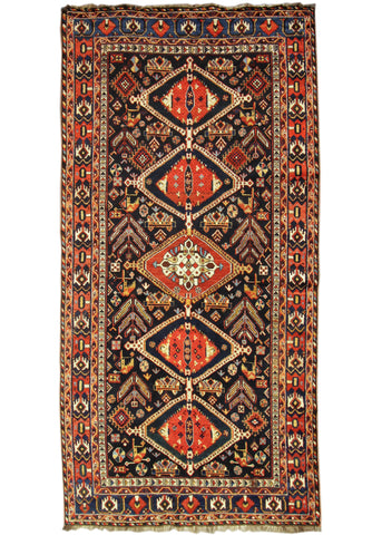 Antique Kurdish Rug, 5X11