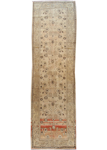 Antique Agra Rug, 7' X 24'
