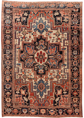 Antique Serapi Rug, 9X14