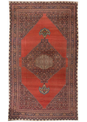 Antique Bidjar Rug, 11' X 19'