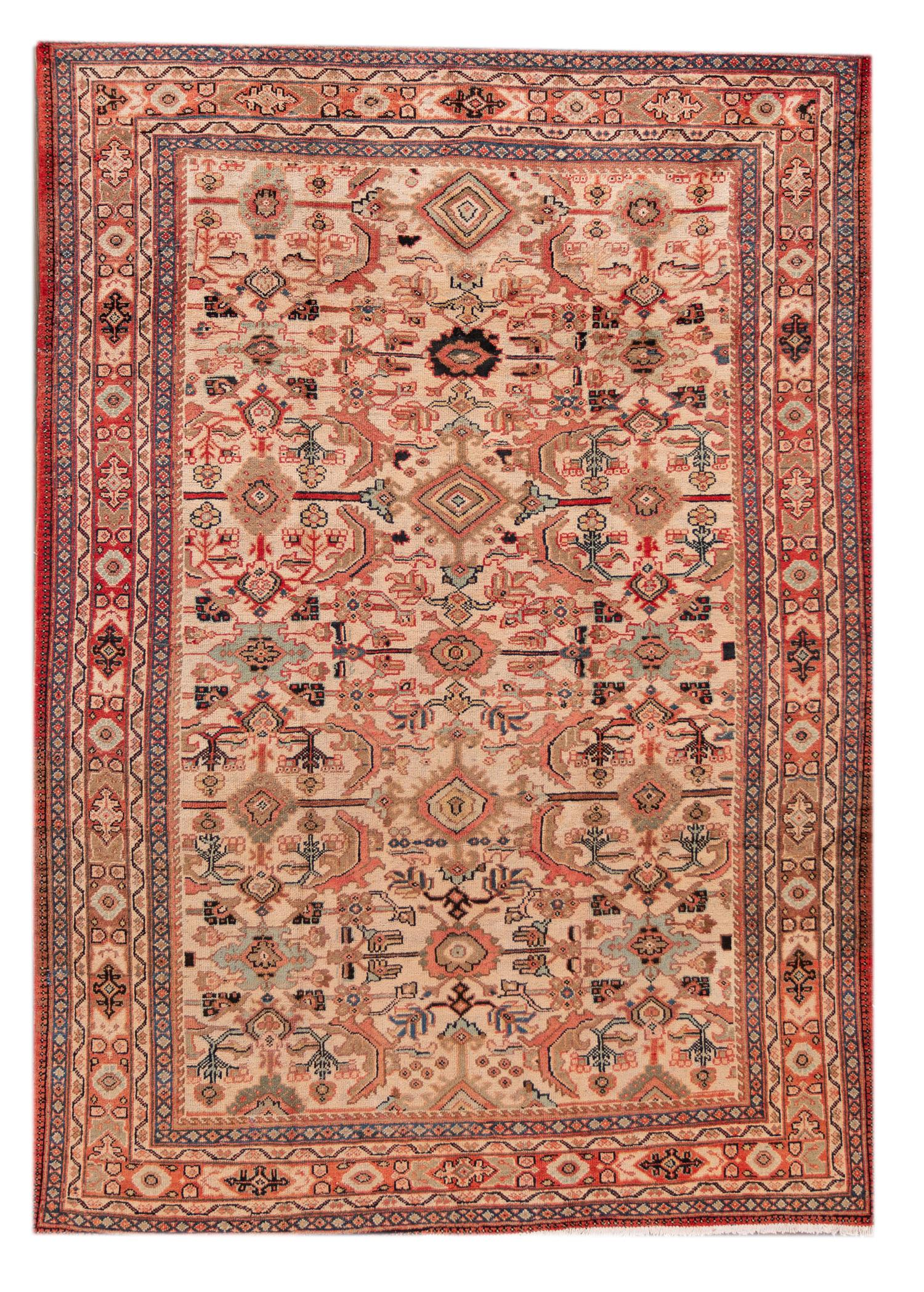 Antique 20th Century Mahal Rug, 8' X 11'