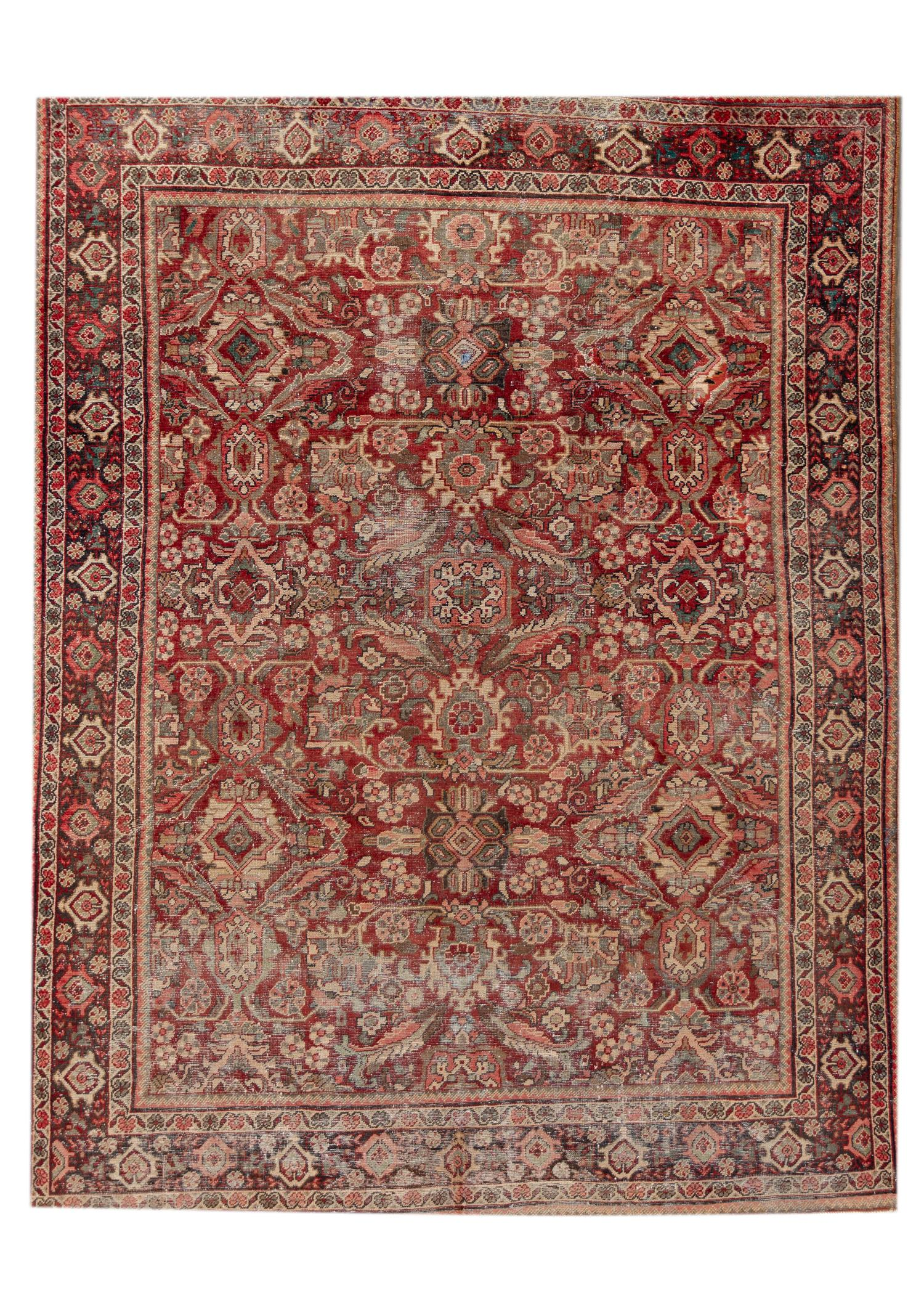 Antique 20th Century Mahal Rug, 10X13