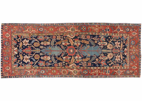 Antique Serapi Rug, 6X14