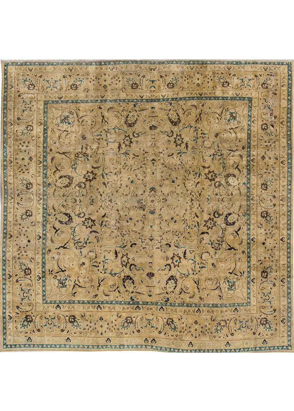 Antique Tabriz Rug, 10' X 10'