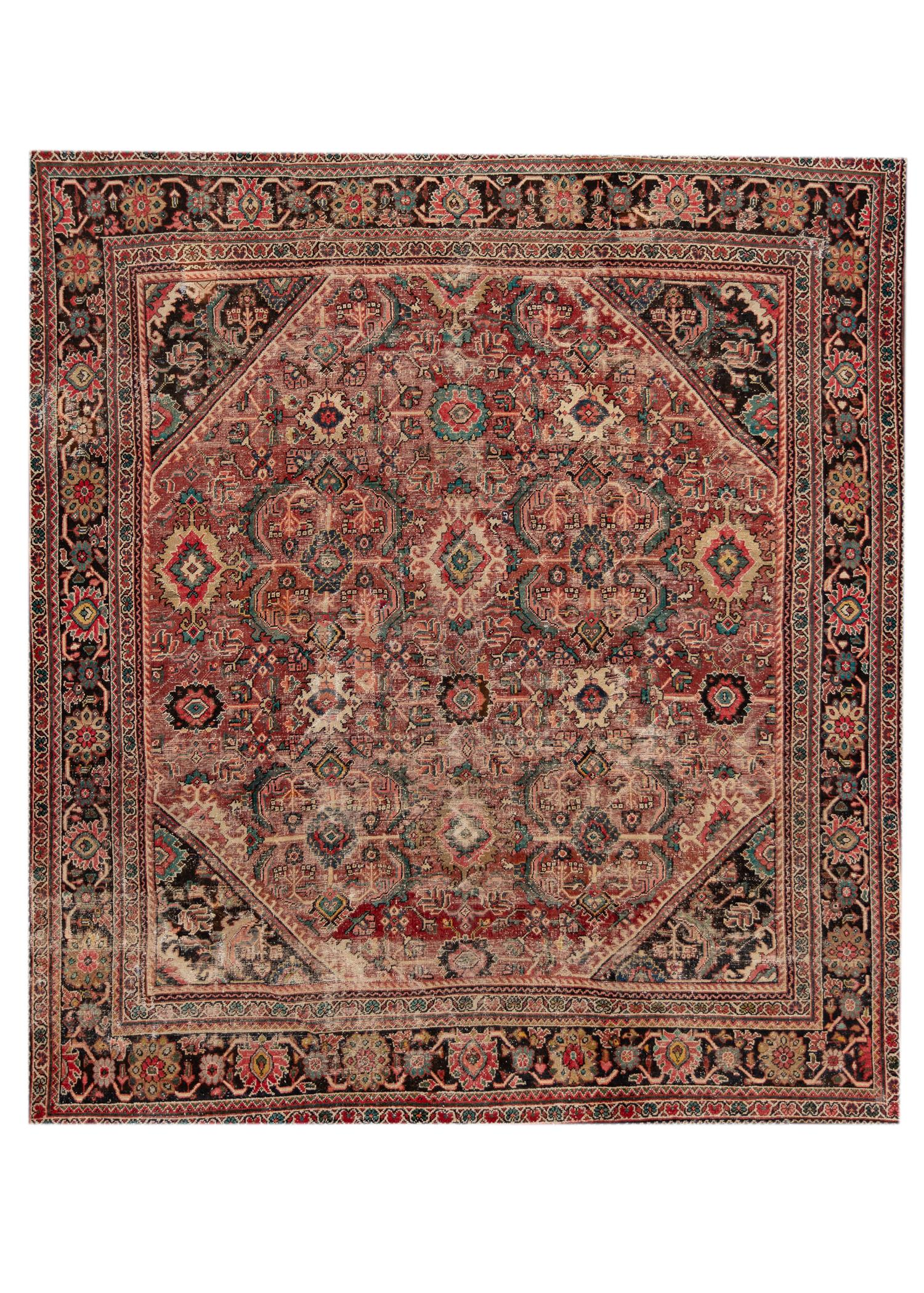 Antique 20th Century Mahal Rug, 11X12