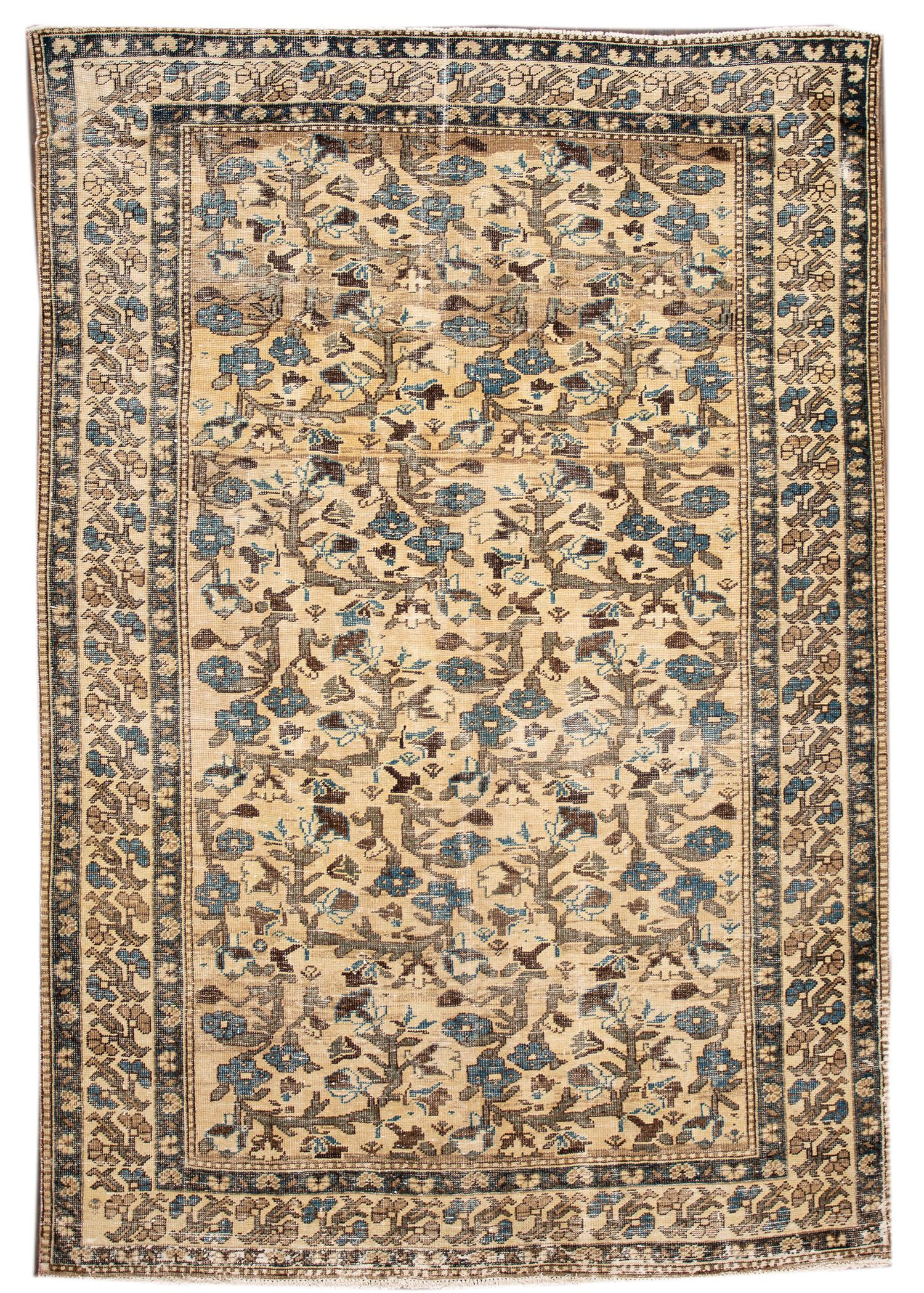 Antique Distressed Tabriz Rug, 7X10