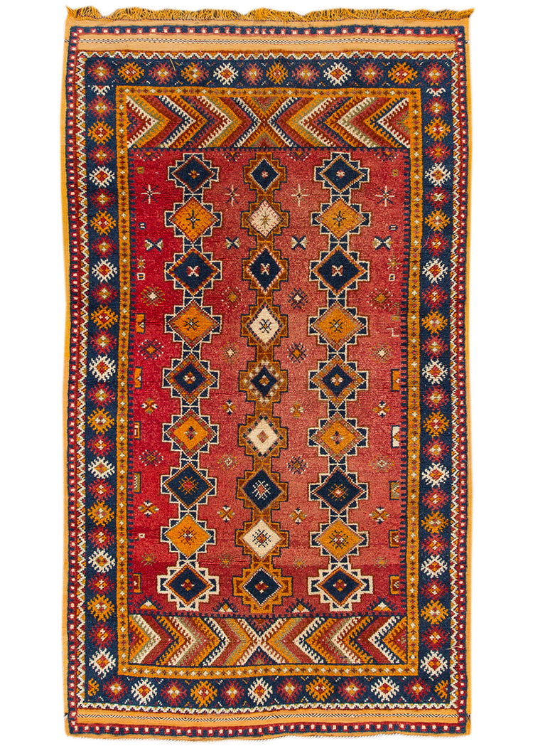 Antique Moroccan Rug, 5X8