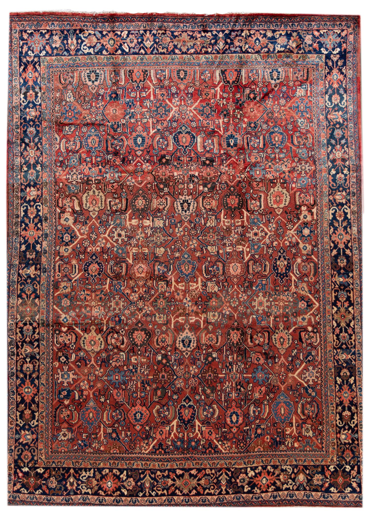 Antique 20th Century Mahal Rug, 9X12