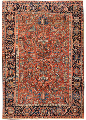 Antique Heriz Rug, 7' X 11'