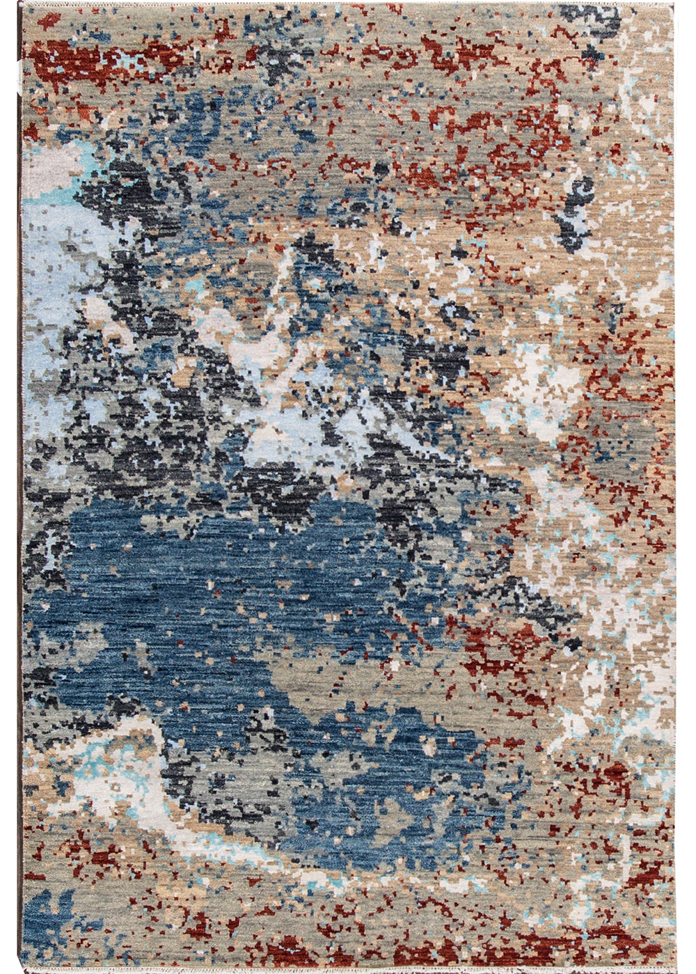 Modern Contemporary Rug, 4X6