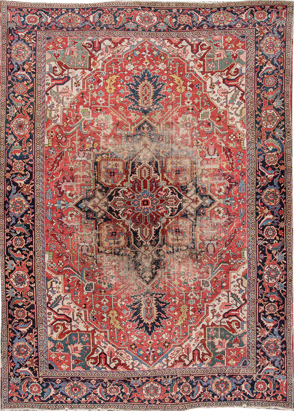 Antique Heriz Rug, 9X13