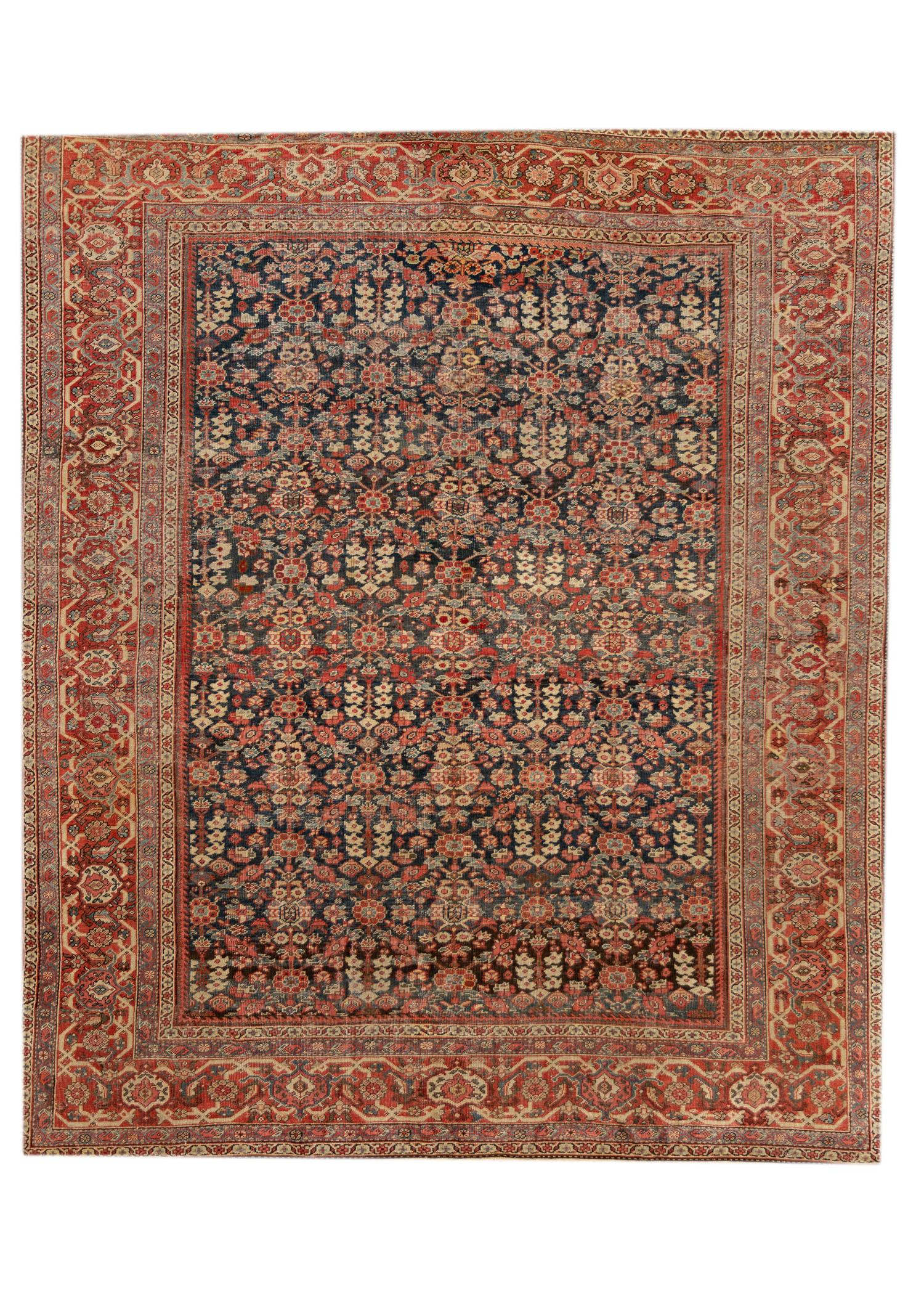 Antique Persian Mahal Rug, 9X10