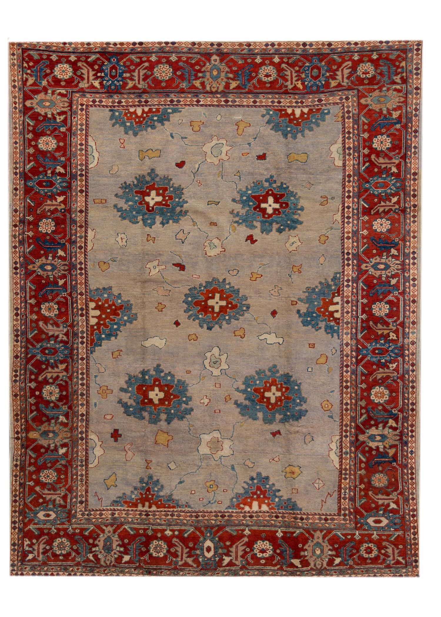 Antique Mahal Rug, 9X11