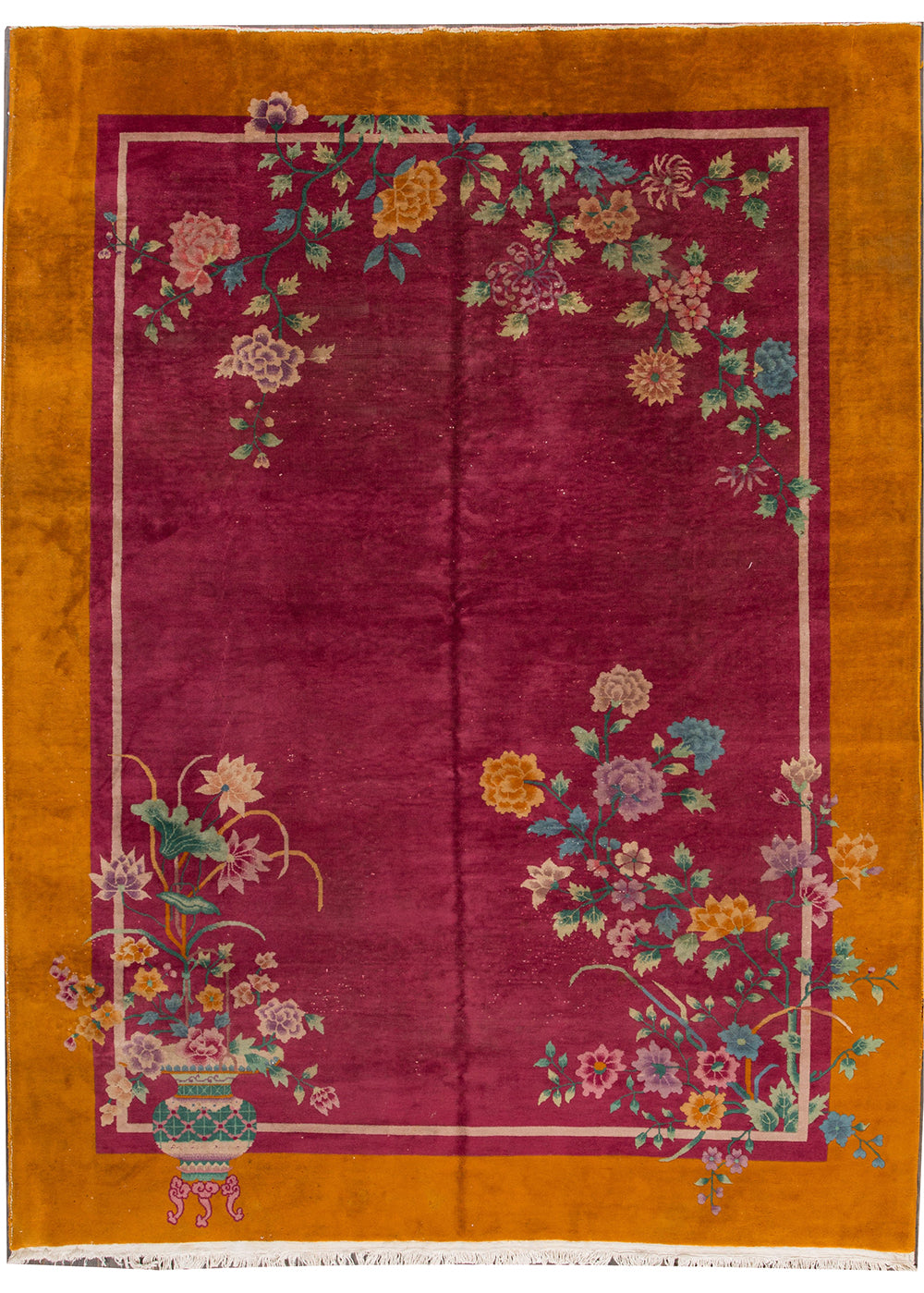 Antique Deco Rug, 9X11