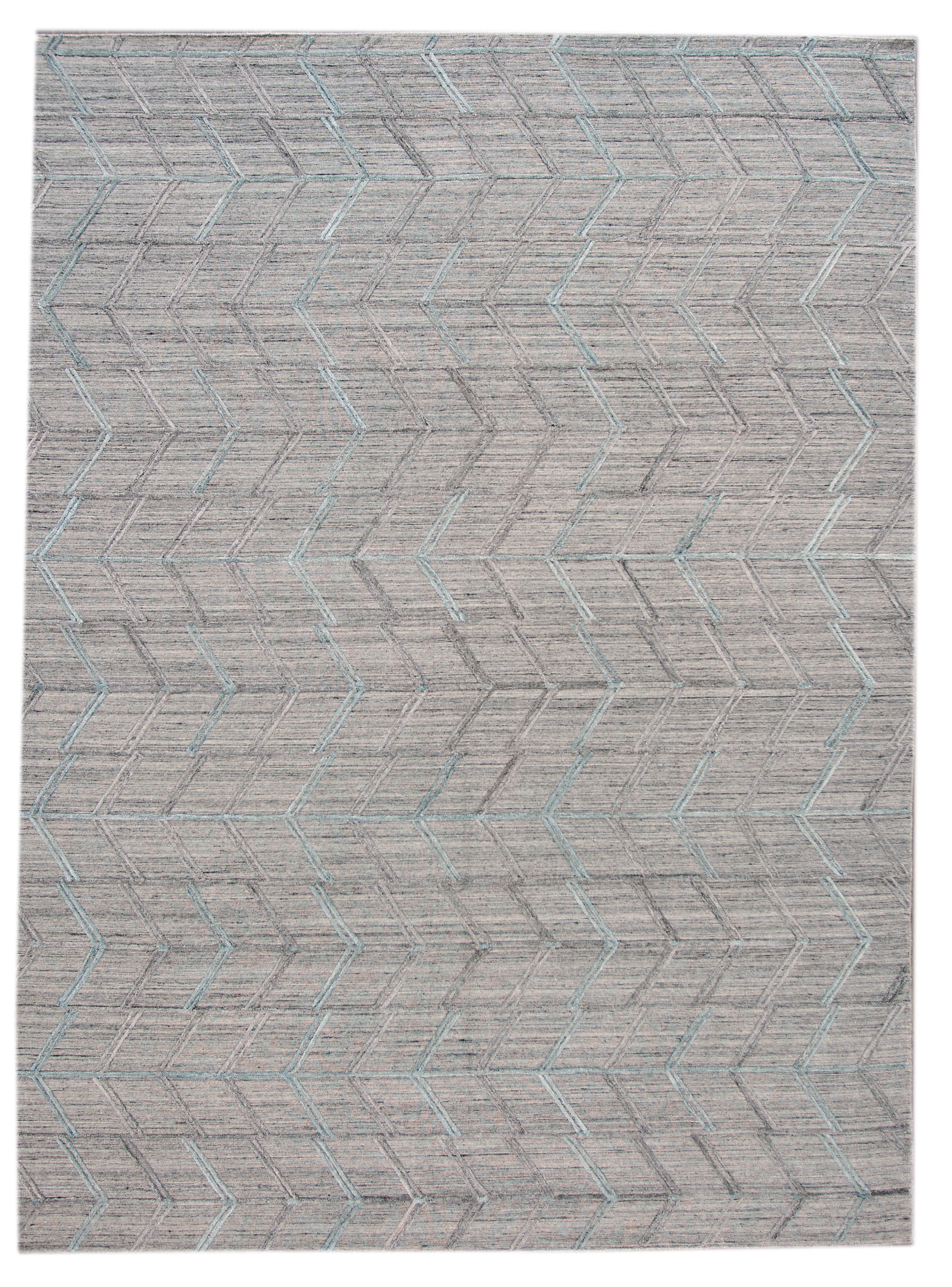 Modern Transitional Flatweave Rug, 9 x 12