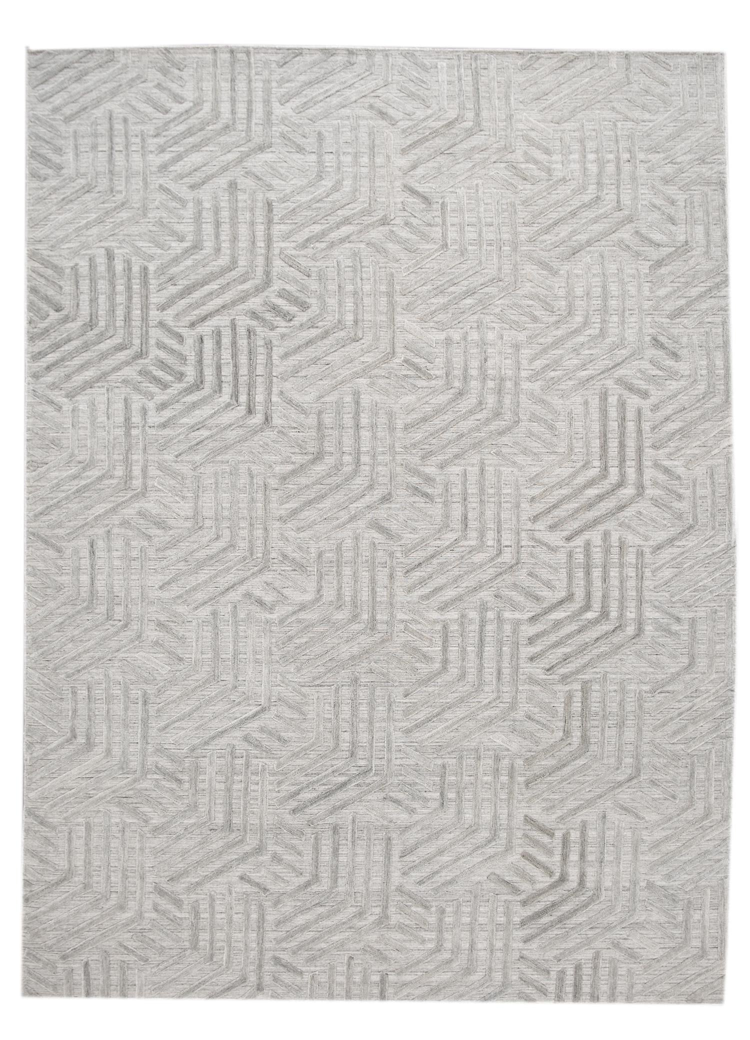Modern Flatweave Transitional Rug, 9x12